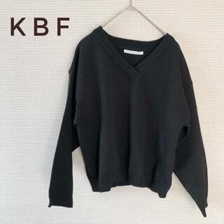 ケービーエフ(KBF)のKBF Vネックセーター ニット ブラック 【F】(ニット/セーター)