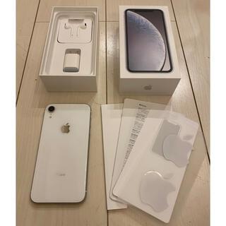 アイフォーン(iPhone)のApple iPhone XR White 128GB SIMフリー(スマートフォン本体)