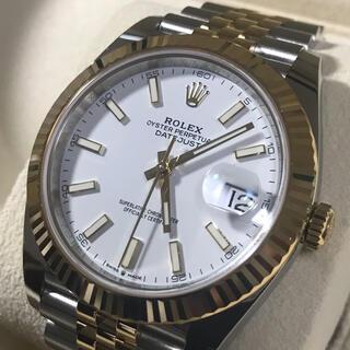 ロレックス(ROLEX)のロレックス デイトジャスト41 ホワイトYG&SSコンビ 未使用(腕時計(アナログ))