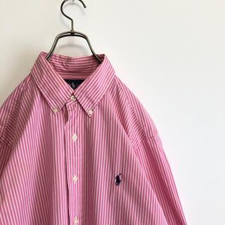ラルフローレン(Ralph Lauren)の古着 ラルフローレン 長袖BDシャツ ストライプ L相当 オーバーサイズ(シャツ)