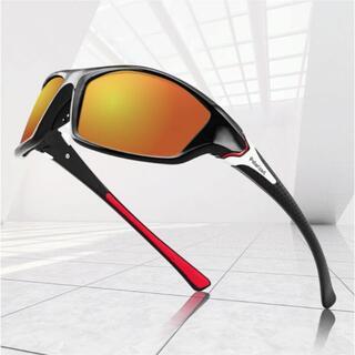 NO.3 スポーツサングラス 偏光 UVカット 軽量 ゴルフ 釣り