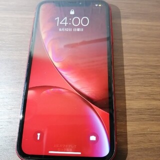 iPhone - iPhone XR red 64GB simフリー ジャンク