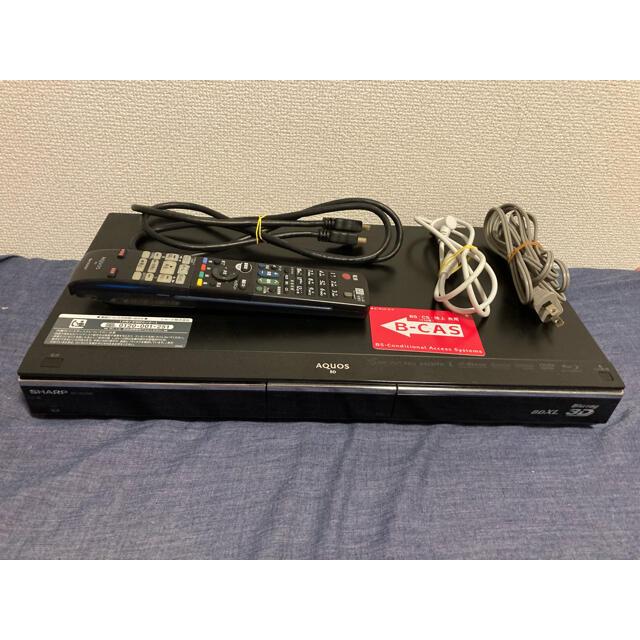 SHARP(シャープ)の【さとる様専用】SHARP AQUOS ブルーレイ BD-HDW80 スマホ/家電/カメラのテレビ/映像機器(ブルーレイレコーダー)の商品写真