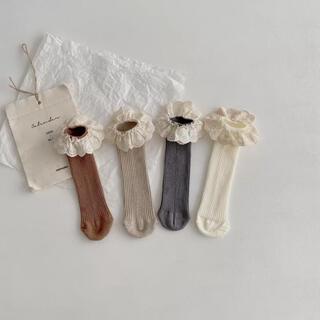 futafuta - 【バラ売り可】4点セット 韓国 ベビー 靴下 フリル 韓国子供服 バースデイ