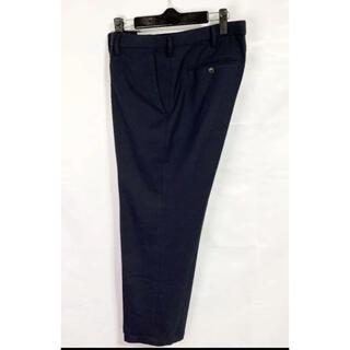 UNIQLO - 【美品】ユニクロ W85  スラックス パンツ  秋冬 紺色 ネイビー
