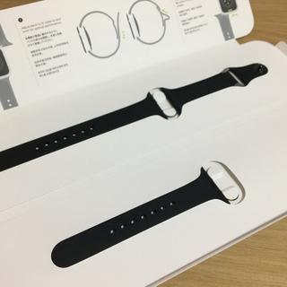 Apple - Apple  Watch 純正 ブラック バンド 38/48mm