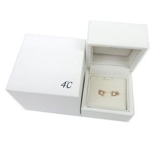 4℃ - ヨンドシー 4℃ K10 ピアス ハートモチーフ ピンクゴールド 箱付
