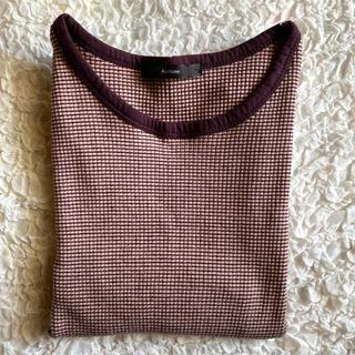 カスタネ(Kastane)のkasutane 細リブリンガーボーダーTee(Tシャツ(半袖/袖なし))