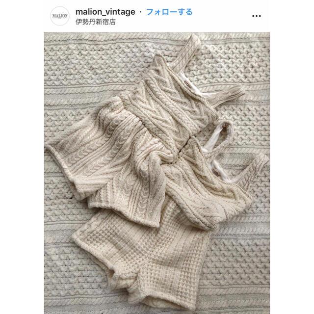 EDIT.FOR LULU(エディットフォールル)のmalion vintage knit romper レディースのパンツ(オールインワン)の商品写真