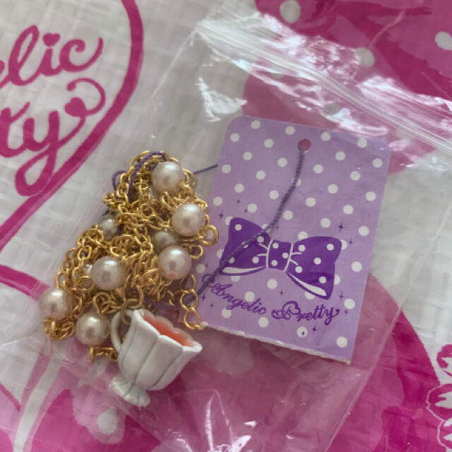 Angelic Pretty(アンジェリックプリティー)のAngelic Pretty Afternoon Tea Cupネックレス レディースのアクセサリー(ネックレス)の商品写真