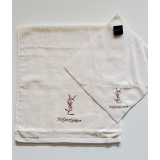 Yves Saint Laurent Beaute - YSL イブサンローラン フェイス&  タオルハンカチ 各1枚 『新品』