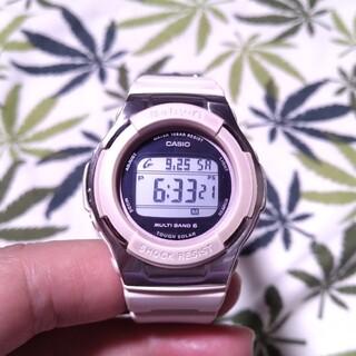 Baby-G - 電波ソーラー 腕時計 CASIO Baby-G bgd-1300 薄いピンク