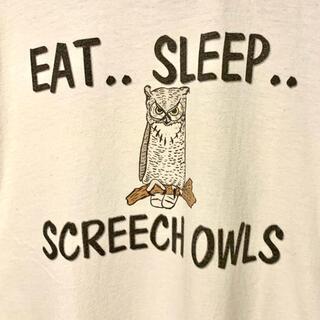ヘインズ(Hanes)のヴィンテージ  tシャツ フクロウ OWL 古着 メンズ ヘインズ イラスト(Tシャツ/カットソー(半袖/袖なし))