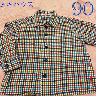 mikihouse - ミキハウス チェックシャツ 90センチ