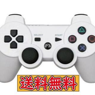PS3 コントローラー ホワイト 白色 互換品 Bluetooth ワイヤレス(その他)