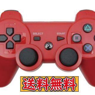 PS3 コントローラー レッド 赤色 互換品 Bluetooth ワイヤレス(その他)