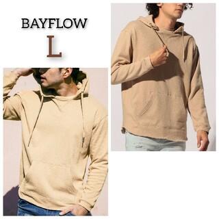 ベイフロー(BAYFLOW)の新品 BAYFLOW ベイフロー ウラパイルパーカー スウェット トップス 長袖(パーカー)