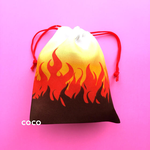 変更OK 鬼滅の刃風 ミニ巾着袋 4種類セット 炭治郎ねずこ煉獄善逸柄 小物入れ エンタメ/ホビーのおもちゃ/ぬいぐるみ(キャラクターグッズ)の商品写真