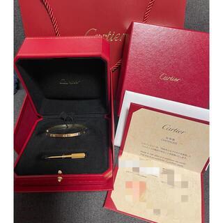 カルティエ(Cartier)のカルティエ ラブブレス PG ピンクゴールド(ブレスレット/バングル)
