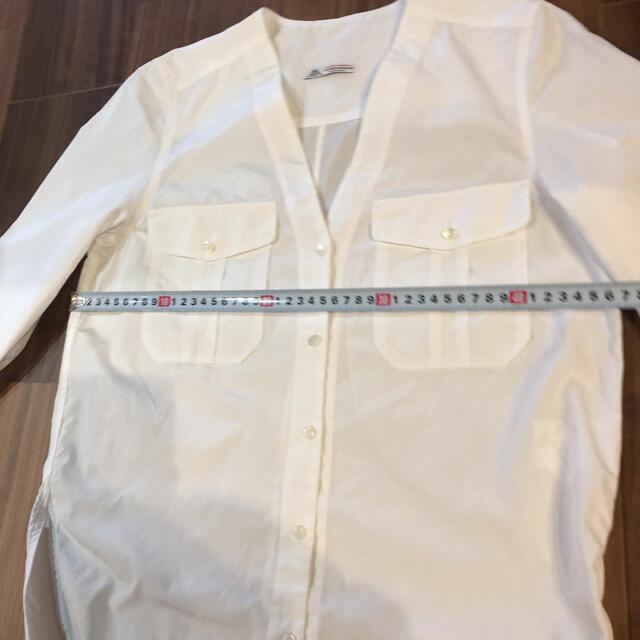 TOMORROWLAND(トゥモローランド)の美品 thomasmason tomorrowland 白 スキッパーシャツ レディースのトップス(シャツ/ブラウス(長袖/七分))の商品写真