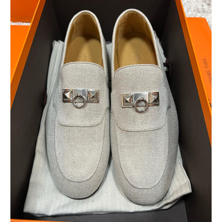 Hermes - (新品)新作 エルメス メンズ シューズ 靴 42.5 モカシン  ブレーズ