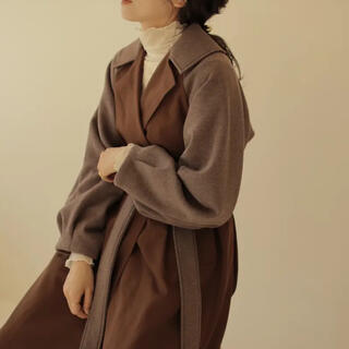 iamofficial♡volume tuck wool trench coat
