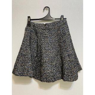 リリーブラウン(Lily Brown)のLilyBrown ツイードスカート フレアスカート(ひざ丈スカート)