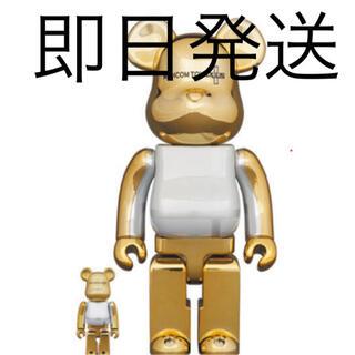 メディコムトイ(MEDICOM TOY)のBE@RBRICK GOLD CHROME Ver. 100% & 400%(その他)