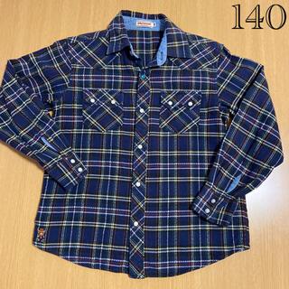 ミキハウス(mikihouse)のミキハウス チェックシャツ 140センチ(ブラウス)