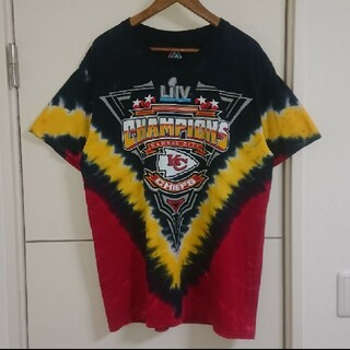 NFL チーフス タイダイTシャツ 古着 デカプリント ビッグシルエット