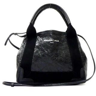 バレンシアガ(Balenciaga)の美品 バレンシアガ ネイビーカバXS レザー 2WAYショルダー・ハンドバッグ(ハンドバッグ)