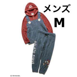 gelato pique - ジェラートピケ【スーパーマリオ】メンズ・Mサイズ◆パーカー・ロングパンツ セット