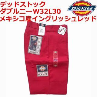 Dickies - イングリッシュレッド W32L30 ディッキーズ ダブルニー デッドストック