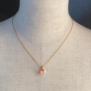 TASAKI - 田崎 パール 珊瑚 ダイヤモンド ネックレス K18金