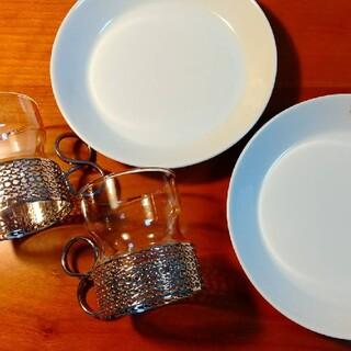 イッタラ(iittala)のiittala /  Tsaikka ホルダー付グラスとティーマ プレート(食器)
