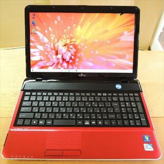 フジツウ(富士通)のWindows10/2コア/4G/SSD FMV AH42(ノートPC)