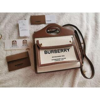 BURBERRY - 【BURBERRY】キャンバス地 ハンドバック
