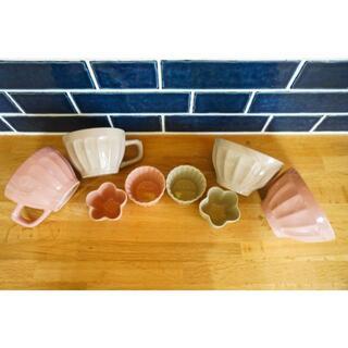 Francfranc - 【新品未使用】ピンクとベージュの マグカップ・お茶椀・ココット8点セット☆