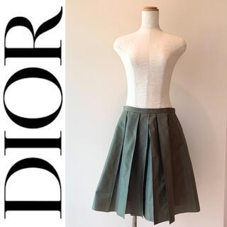 クリスチャンディオール(Christian Dior)の【現行タグ 美品】Christian Dior ディオール プリーツスカート(ひざ丈スカート)