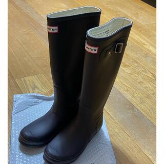 ハンター(HUNTER)のHUNTER レインブーツ ロングブーツ UK5 ネイビー(レインブーツ/長靴)