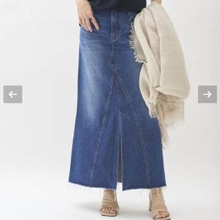プラージュ(Plage)のplage healty denim sp front slit スカート36 (ロングスカート)