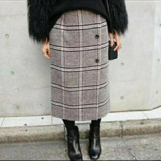 IENA - IENA  Wフェイスリバーシブル ミッドカーフスカート