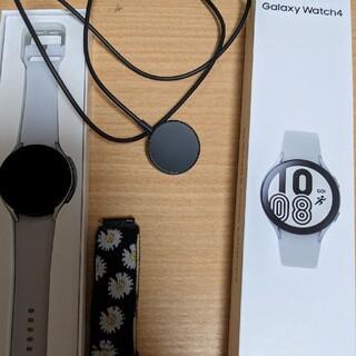 ギャラクシー(Galaxy)のgalaxy watch 4 44mm 海外版 シルバー(腕時計(デジタル))