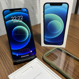 iPhone - 保証残あり Apple iPhone 12 Blue 128GB simフリー