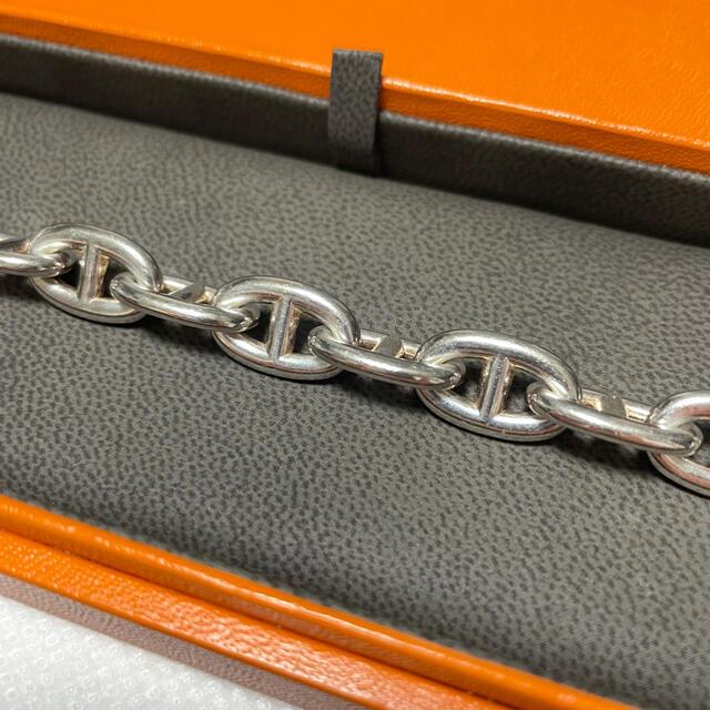 Hermes(エルメス)のHERMES シェーヌダンクル MM 15コマ シルバー ブレスレット メンズのアクセサリー(ブレスレット)の商品写真