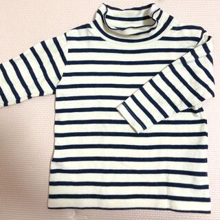 ムジルシリョウヒン(MUJI (無印良品))のボーダータートル 無印良品 90(Tシャツ/カットソー)