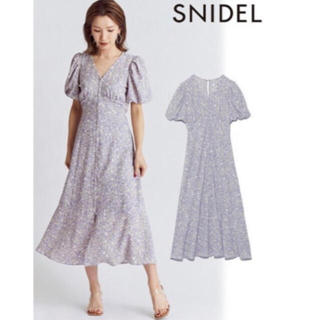 snidel(スナイデル)のSNIDEL フロントボタンプリントナローワンピース swfo212007 レディースのワンピース(ロングワンピース/マキシワンピース)の商品写真