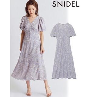 snidel - SNIDEL フロントボタンプリントナローワンピース swfo212007