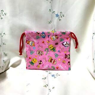 給食袋 コップお箸入れ アンパンマン ピンク おもちゃ入れ ハンドメイド(外出用品)