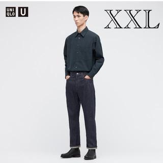UNIQLO - ブロードレギュラーカラーシャツ ユニクロu 21AW 48ブルー